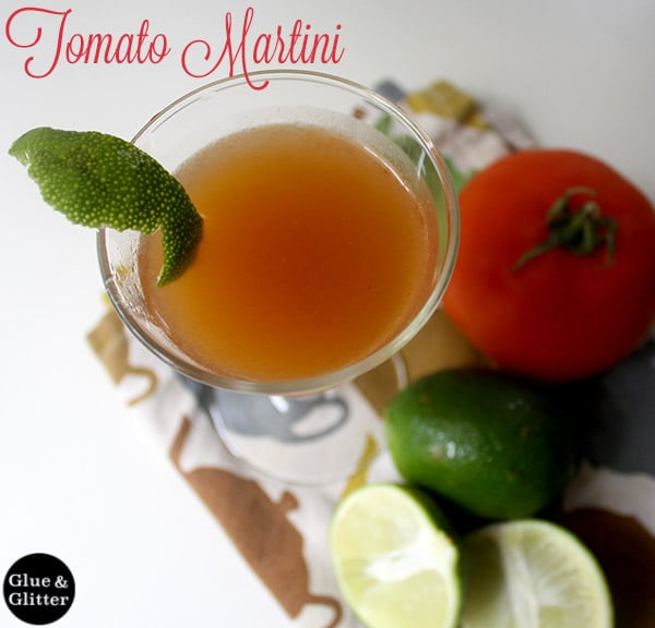 Homemade tomato jam is the secret to this tomato martini recipe. You'll have plenty of leftover jam to eat, too!