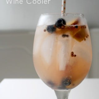 Pickled Peach and Blueberry White Wine Cooler
