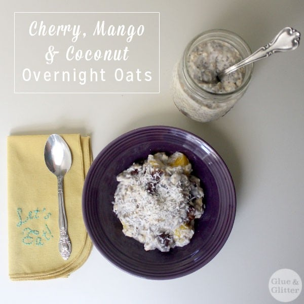 This overnight oatmeal is fruity with a rich texture from coconut yogurt and chia seeds. You can sweeten it further with maple syrup, if you like.
