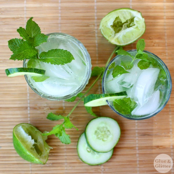 This simple gin cucumber cocktail is bubbly and refreshing. No syrups or sweeteners required!