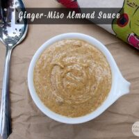 This versatile almond sauce works well as a salad dressing, in stir fries, or poured over fresh or roasted veggies. And you make it in the blender!