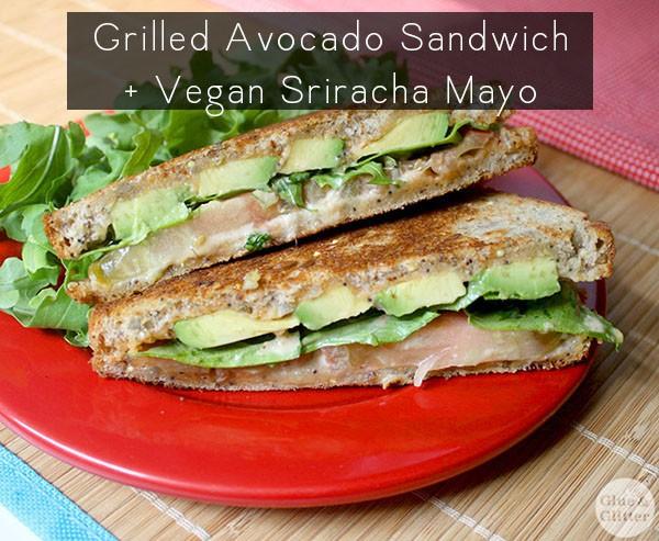 grilled avocado sandwich vegan