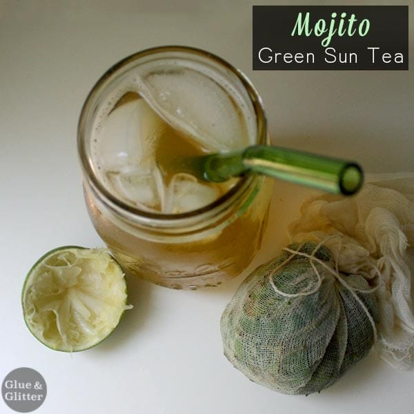Green sun tea with sweet mint and lime is such a refreshing treat on a hot day. You can make this tea as sweet or unsweet as you like.