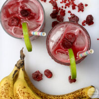 This is a healthier spin on the banana daiquiris that you'd order poolside. The sweetness comes from 100% real fruit, no added sugars needed!