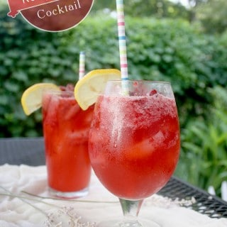 Raspberry Wheat Beer Cocktail
