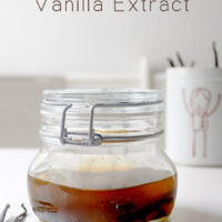 Alcohol free vanilla extract is so, so simple to make! The main ingredient is time.
