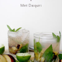 Seasonal black plums give this mint daiquiri its natural sweetness, no added sugar required!