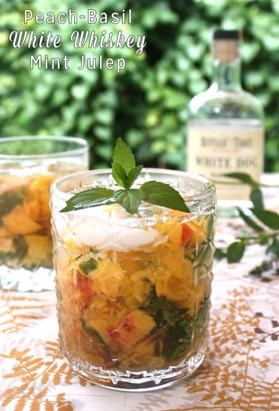 Peach-Maple White Whiskey Mint Julep