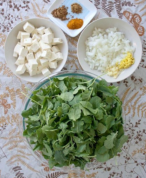 Saag Tofu Ingredients