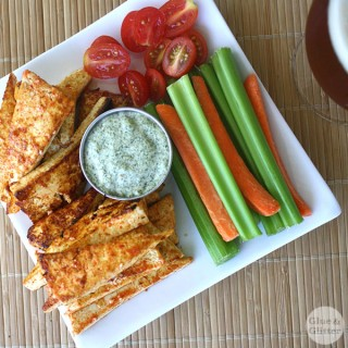 3-Ingredient Vegan Sriracha Wings with Creamy Cashew Ranch
