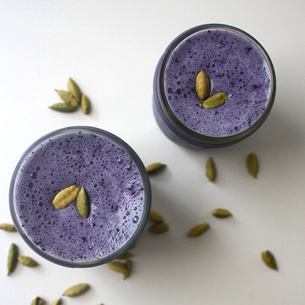 This blueberry cardamom smoothie is a healthy, sweet treat, and it couldn't be simpler to make.