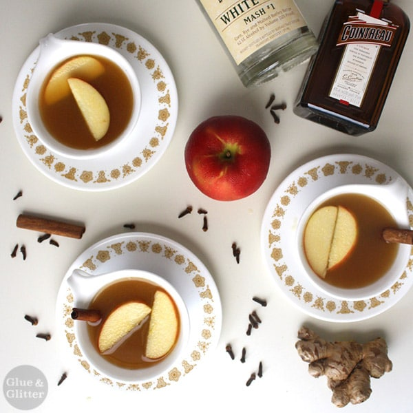 A warm mug of apple cider is lovely on its own or with a little added kick. Your choice!