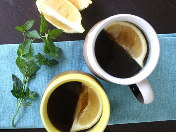 With cold weather starting to roll in, it's the perfect time for a mint hot toddy! Nothing beats a chill like a warm mugful of booze.