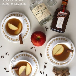 Mulled Apple Cider, Spiked or Unspiked