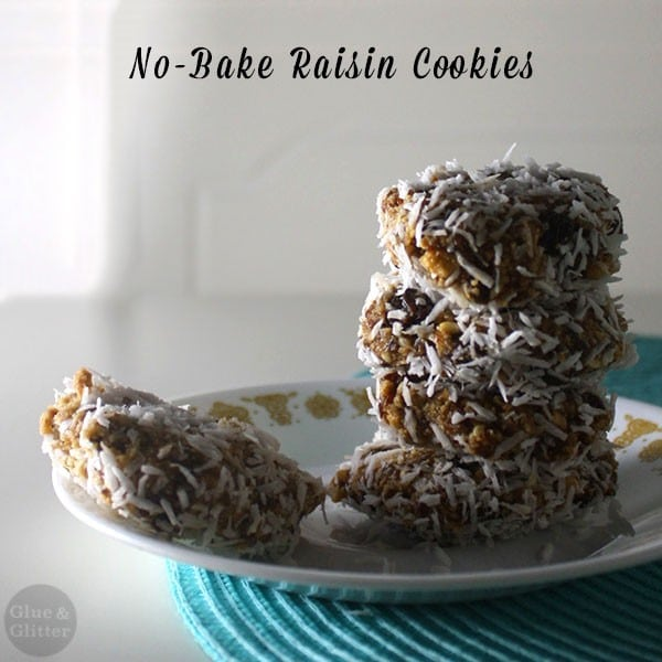 These no-bake raisin cookies have three ingredients and no refined sugar!