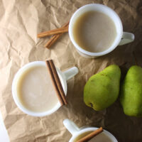 This fruity variation on not buttered rumfeaturessweet, rich roasted pear puree.