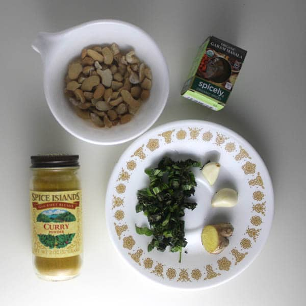 basil curried couscous ingredients