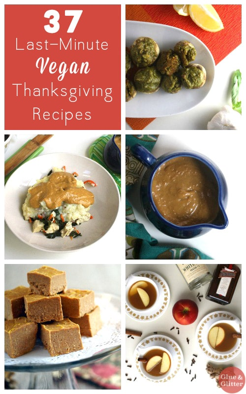 These last-minute vegan Thanksgiving recipes are all easy to make but so beautiful and delicious that no one will guess that they were easy.