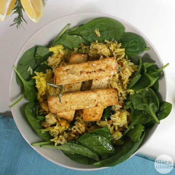 Serve Lemon-Herb Tofu over greens or grains or even as finger food at your next shindig!