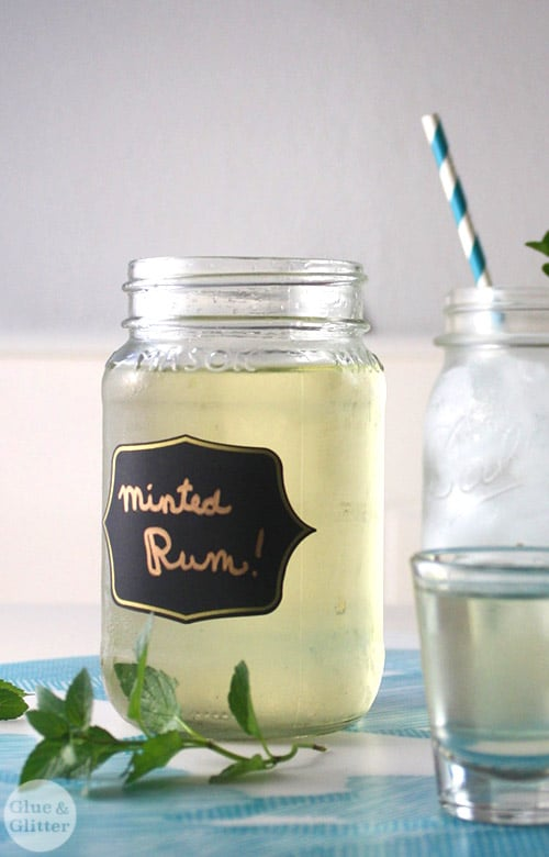 I made this batch of mint rum to add to hot cocoa, but it's great in lots of cocktail recipes.