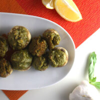 These vegan pesto stuffed mushrooms are always a total hit with vegans and omnivores alike!