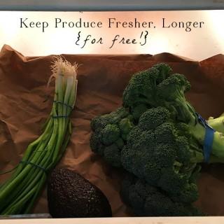 Free Way to Keep Produce Fresh in the Crisper