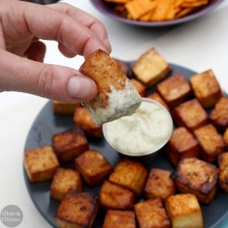 Agave Sriracha Tofu Bites with Ranch Dipping Sauce