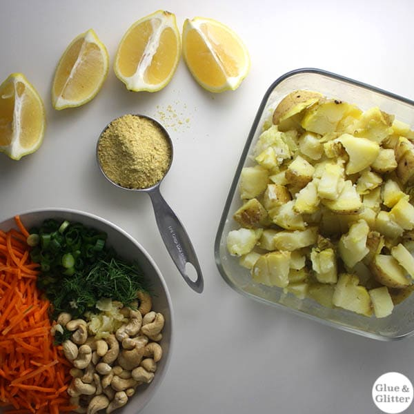 Dill Pesto Potato Salad Ingredients
