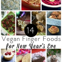 Get some easy, delicious vegan finger food recipes for New Year's Eve plus a few cocktail recipes to round things out.