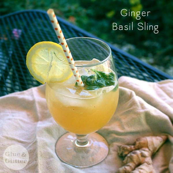 Get my ginger-basil sling recipe plus a free printable recipe card for gifting!