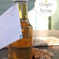 Make homemade ginger syrup for all of the cocktails and mocktails! If you're giving it as a gift, grab a free printable recipe card to go with.