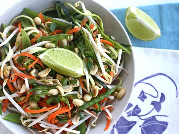Fresh raw padThai in a citrusy, gingered peanut sauce iseasy to make and as good as its restaurant counterparts.