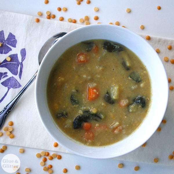 Get the recipe for Sunny Split Pea Soup from Eat Like You Give a Damn, plus a review!