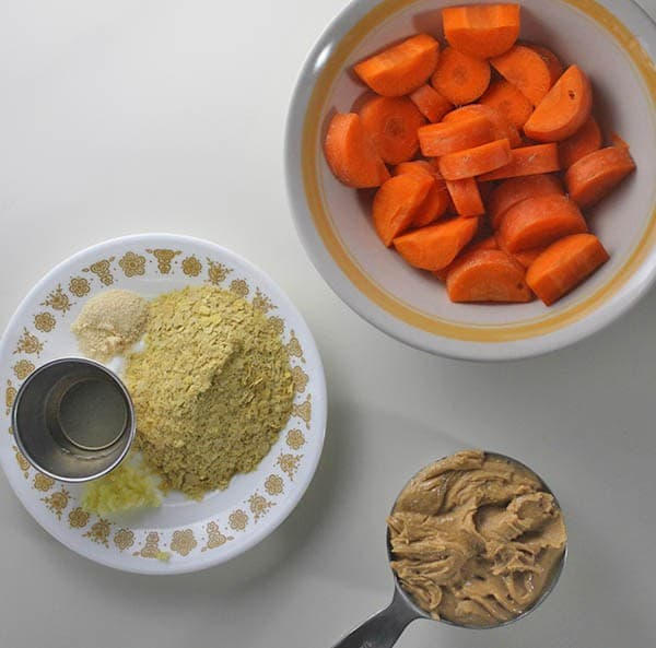 Carrot Cashew Cheesy Sauce Ingredients