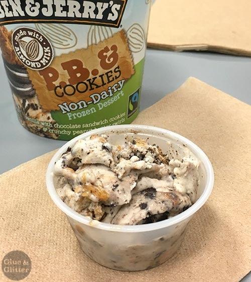 Ben & Jerry's Vegan Ice Cream: PB & Cookies