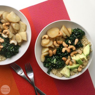 Quinoa Buddha Bowl with Maple Vinegar Braised Parsnips