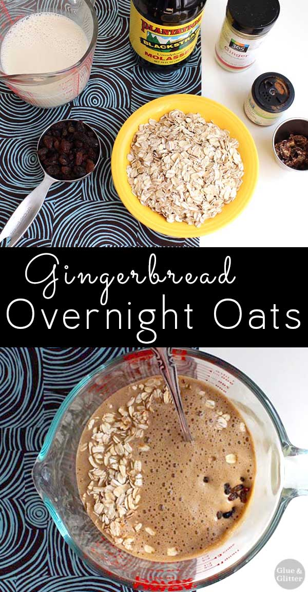 image collage of making overnight oats with text overlay