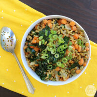 Kamut pilaf makes a great, veggie-ful side dish.
