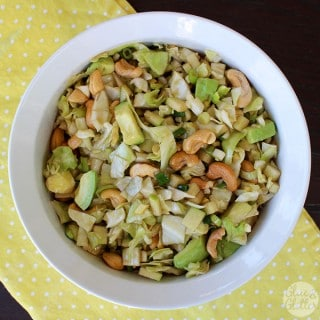 Coleslaw Recipe with Ginger, Green Apple, and Avocado