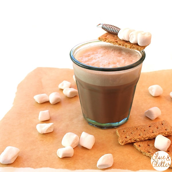 S'mores Vodka Flip: a chocolatey, cinnamony vodka flip with marshmallow and graham cracker garnish. So, so decadent, y'all.