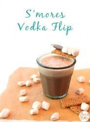 S'mores Vodka Flip: a chocolatey, cinnamony vodka flip with marshmallow and graham cracker garnish. So, so decadent, y'all.