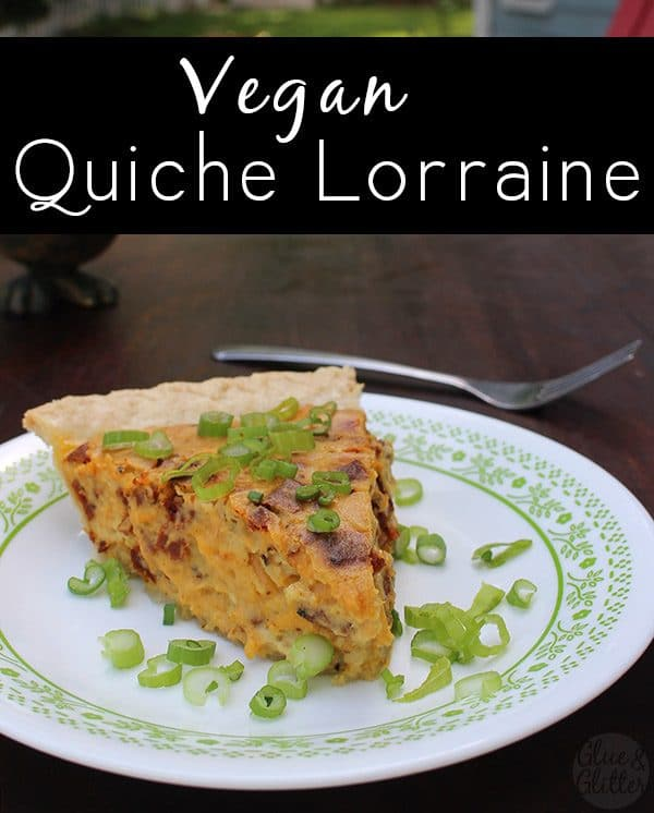 Vegan quiche Lorraine is rich, yet light and fluffy. And it's packed with vegan bacon power.