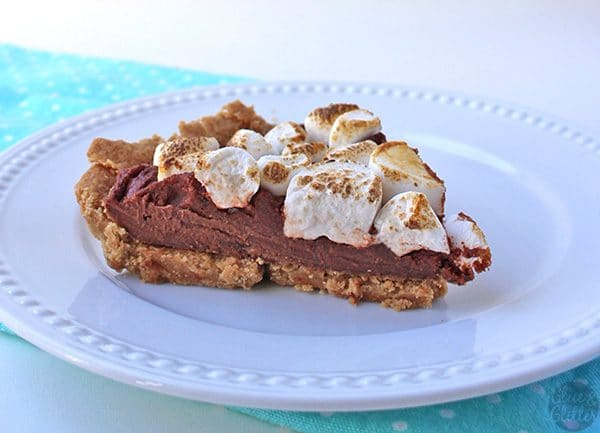 A vegan s'mores cream pie: all of the goodness of s'mores in pie form.