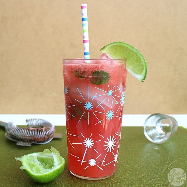 A watermelon coconut mojito is just right for patio sipping, and it only has five simple ingredients!