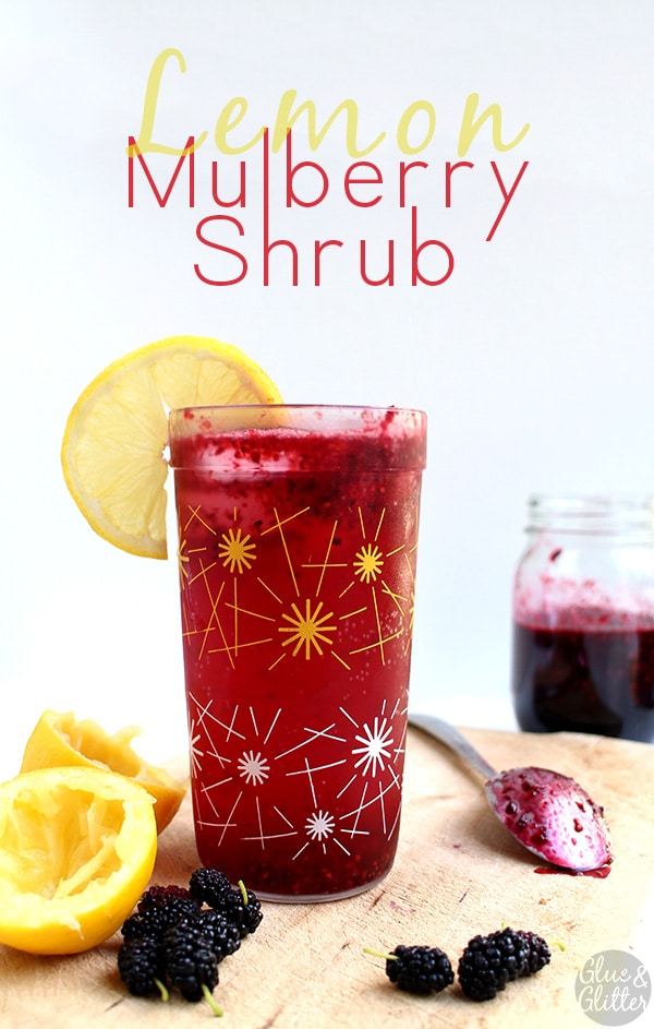 Sweet-and-sour mulberry shrub syrup is perfect for making all kinds of delicious, vibrant cocktails or handmade sodapops.