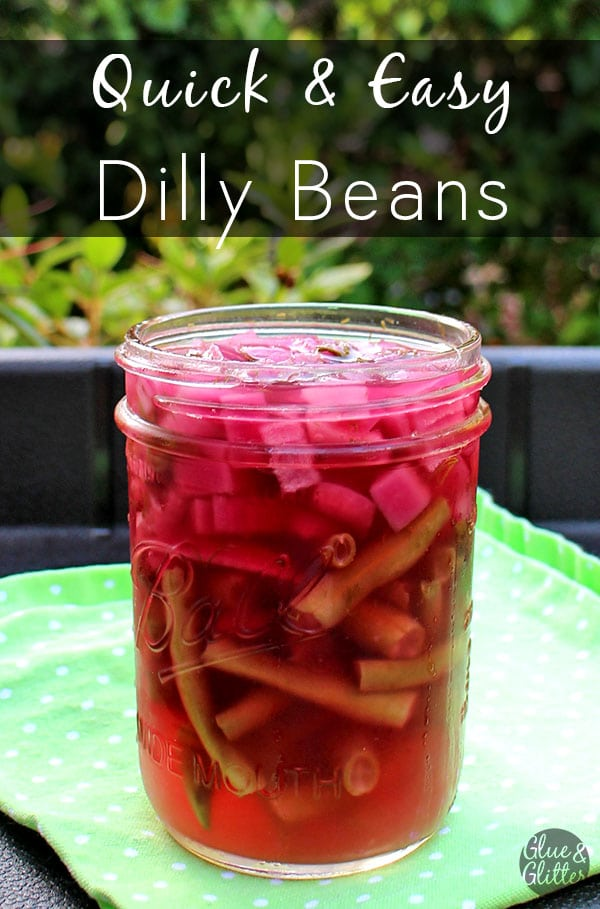 These refrigerator dilly beans are easy to make and perfect on top of salads, bowls, or to garnish your next bloody Mary.