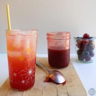 Plum Shrub Syrup for Cocktails or Mocktails