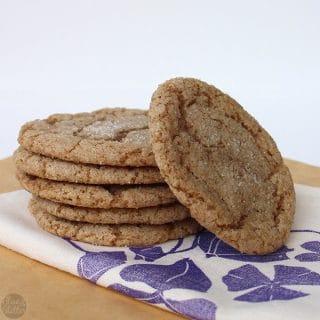 Easy Vegan Sugar Crinkle Cookies