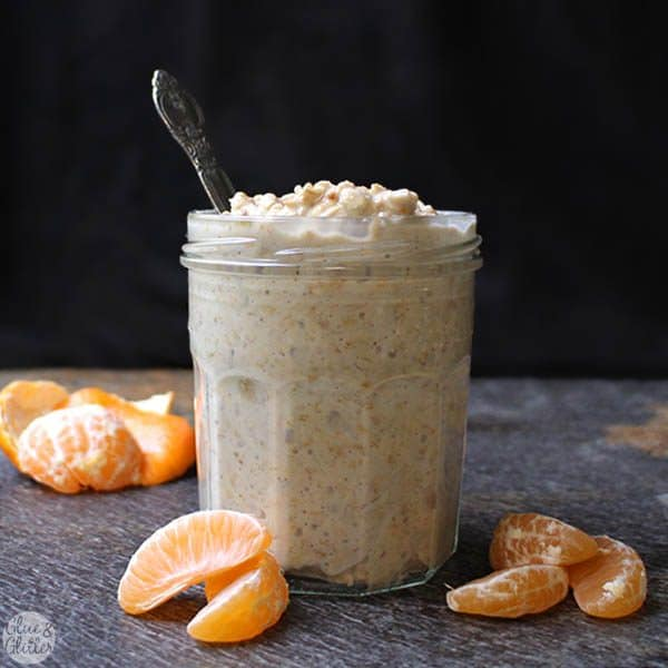 Rich and creamy creamsicle overnight oats will totally remind you of that childhood treat. And you only need 5 ingredients to make them!