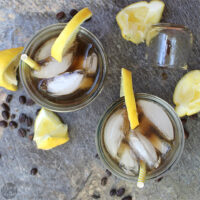 Iced coffee lemonade might sound weird, but it's actually super refreshing! This decadent cocktail is a boozy spin on that idea.